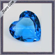 Brillante forma de corazón de vidrio de piedras preciosas para la joyería