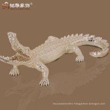 home ornament resin alligator figurine for wholesale