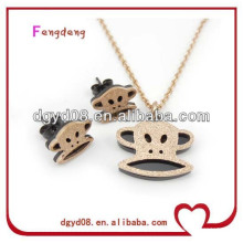Wholesale 2013 fashion rose gold necklace jewelry set