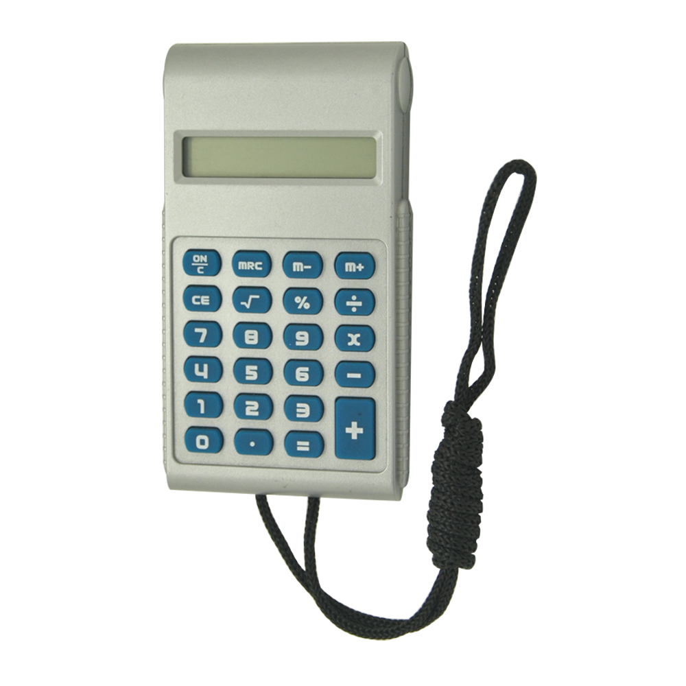 Mini Mobile Phone Shape Pocket Calculator with Lanyard