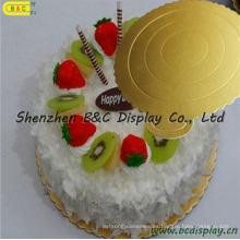 Tablero de papel corrugado con bordes de flores redondas Platos de pastel FDA con SGS (B & C-K061)