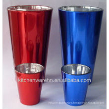 High quality High & Shot plated glass cup/plated drinking glass/whisky cups