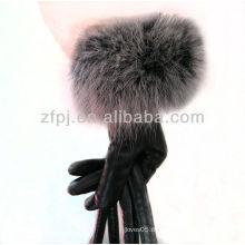 2012 neueste Kaninchenpelz-Handgelenk-Großhandelslederhandschuh