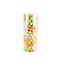 Paquete de cilindro de plástico transparente transparente PET personalizado