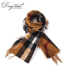 El último diseño superior de la última moda 2017 espesa la bufanda hecha punto señora de la cachemira del invierno