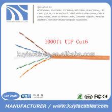Оранжевый кабель Ethernet UTP Cat6 Coiled
