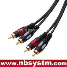 Geformtes Digital-Audiokabel 2xRCA Stecker zum 2xRCA Stecker