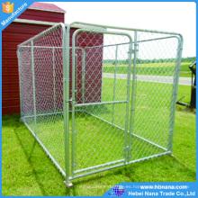 Grandes jaulas para perros al aire libre de metal de acero inoxidable con paleta de plástico