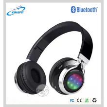 Fones de ouvido estereofónicos de alta qualidade de Bluetooth, auscultadores sem fio dobráveis de Bluetooth