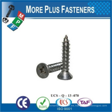 Hecho en Taiwán Tornillo autorroscante para cabeza Phillips de aluminio