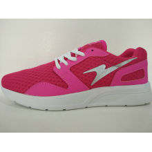 Rose Red Mesh Light Casual Shoes for Ladis