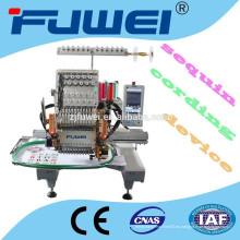 Máquina de bordar de 15 cabezales de colores con lentejuelas / dispositivo de cordón