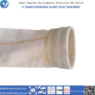 Bolsa de filtro de polvo compuesto PPS y P84 para planta de energía de carbón con muestra gratis