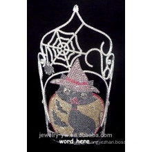 High Quality Crystal Spider And Black cat halloween crown