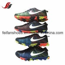 Novo design confortável Flyknit Casual Sport Shoes tênis para homens