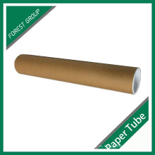 Tubo de papel de impresión Brown Palin personalizado con tapa