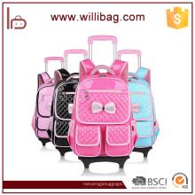 Cute Trolley Backpack Nuevo diseño desmontable Kid Trolley School Bag