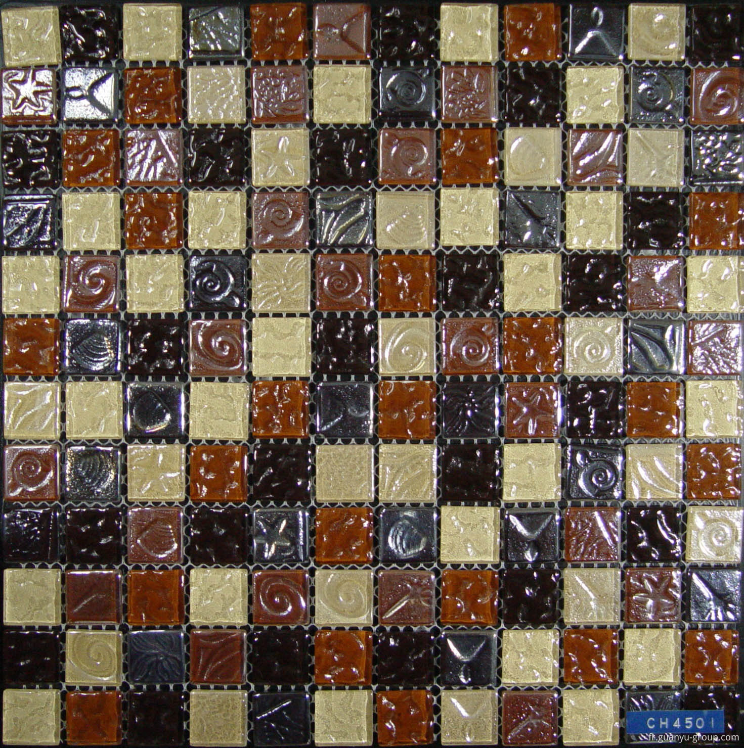 Bumpy Color Mixed Crystal Glass Mosaic