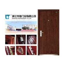 Porta blindada de madeira de aço com estilo turco