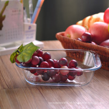 Quadratische Ofen-Glasschüssel für Früchte