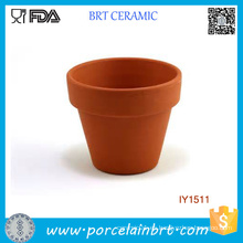 Pote de la planta original de cerámica de la tierra Pote de la planta amarilla