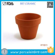 Pot de fleur en céramique originale de la terre jaune Pot de fleur en céramique