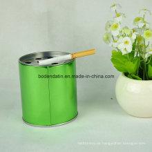 Kundenspezifischer runder Metall Indoor Standing Aschenbecher