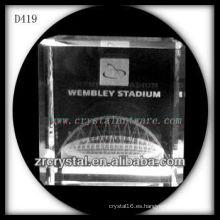 Arquitectura subsuperficial láser K9 3D dentro de Crystal Cube