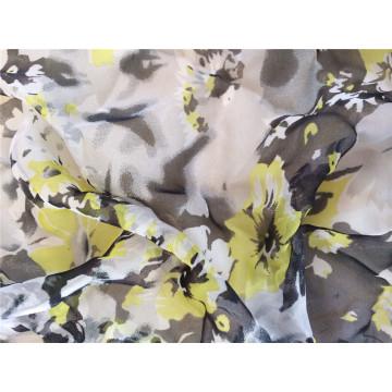 30d Polyester bedruckte Chiffon Stoff für Kleidungsstück