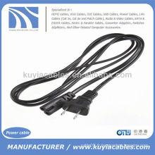US Plug 2-Prong Port Adaptateur secteur Adaptateur secteur Câble pour ordinateur portable Magnétoscope Ps2 Ps3 Slim