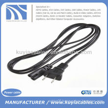 US Plug 2-Prong Port Ac Power Adapter Cord Cable For Laptop PC VCR Ps2 Ps3 Slim