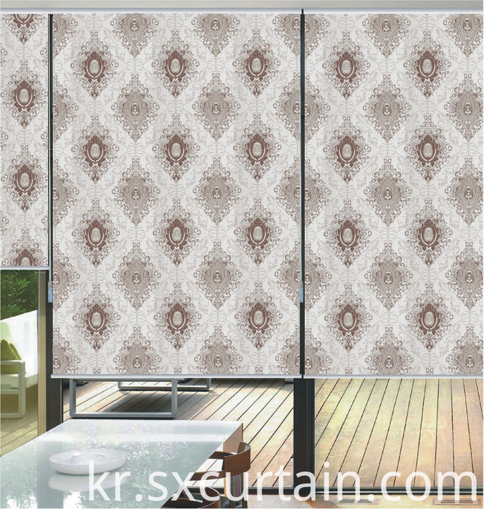 Roller Shade Curtain Jacquard