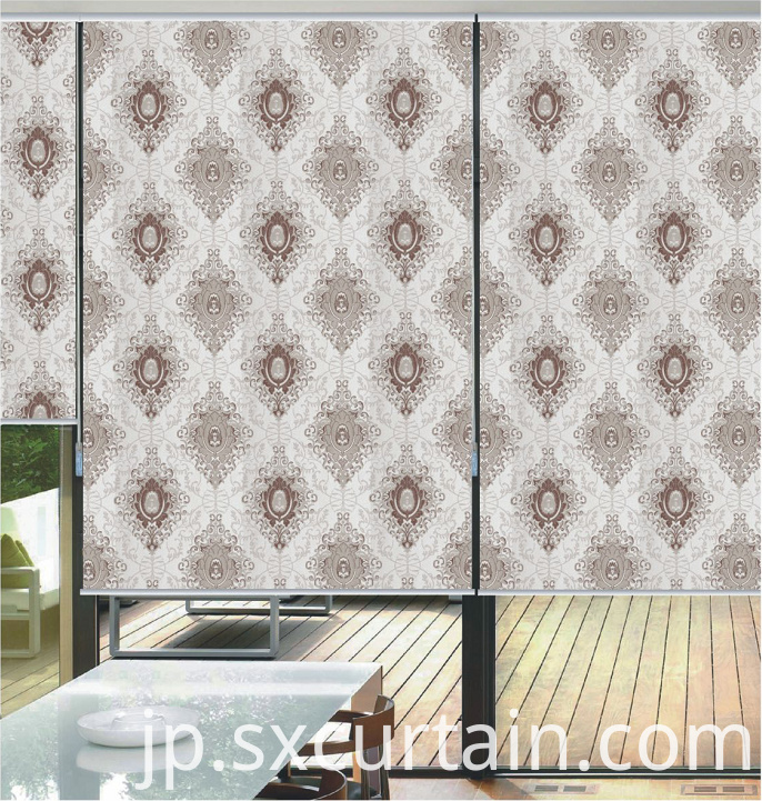Dyed Roller Blackout Curtain Shade Jacquard