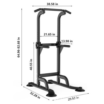 Home Gym Strength Training Durable Single Parallel Bars Gym Pull Up Bar Power Tower