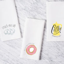 hight quality printing funny doughnut square kitchen towel tea towel TT-019