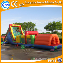 Funny 0.55mm pvc raw material inflatable obstacle course for fun