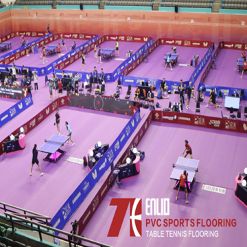 Enlio Table Tennis ITTF Certification PVC Sports Flooring