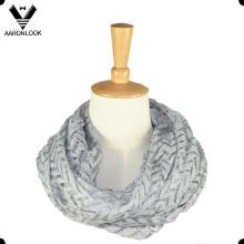 2016 Lady Nuevo estilo Chevron Knit ronda bufanda