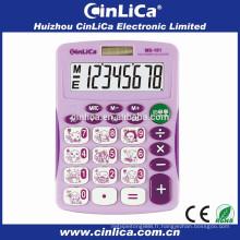 Electronic Big Display Calculator Télécharger la cellule solaire avec une couverture dure MS-181