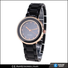 rose gold case ladies bracelet wrist watch, romanson quartz stainless steel watch
