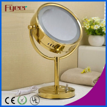 Fyeer Luxury Round Golden LED Maquiagem espelho de mesa (M3028GF)