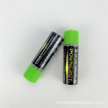 Batteria al litio USB 1.5V AA