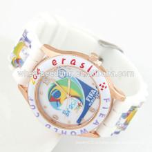 Высокое качество спортивные силиконовые часы сделать пользовательские часы