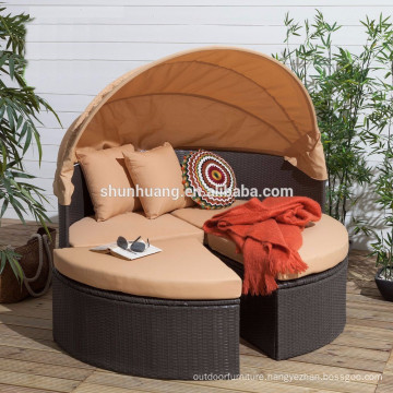 Good quality poly rattan furniture wicker garden day bed