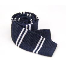 Gravata de malha de poliéster de microfibra de moda cor sólida