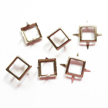 9mm Nickle Square Frame Studs 4 Prongs