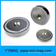 Imán magnético del pote del agujero del avellanamiento del montaje