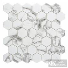 Шестигранная стеклянная мозаика Backsplash Tile