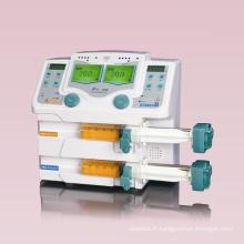 Pompe à seringue à double canal pour équipements médicaux