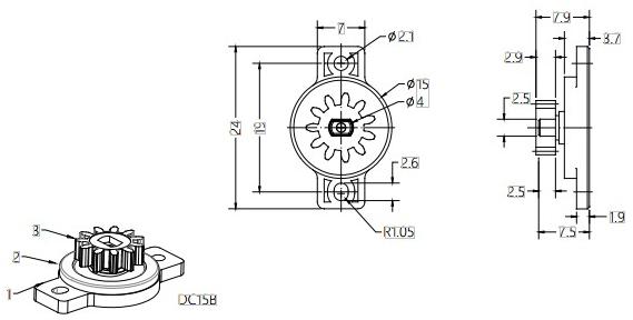 Plastic Gear Damper For Furniture